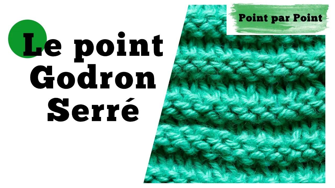 Read more about the article Point par point – Godron Serré (tricot à plat et en rond)