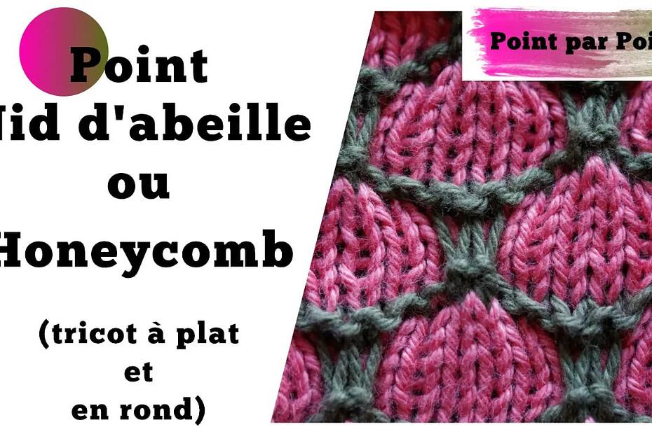 Point par point - Nid d'abeille ou Honeycomb (tricot à plat et en rond)_FR