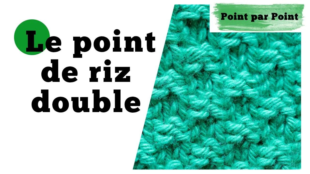 Read more about the article Point par Point – Point de riz double (Tricot a plat et circulaire)